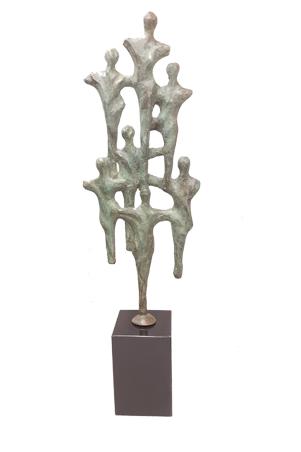 Bronzen sculptuur Groeien naar succes